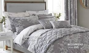 laura grey bedding collection dunelm