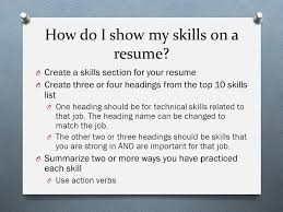 Resume Technical Skills List By Lise Kalla Washington Wilkes Comprehensive High Ppt