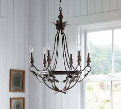Candle Chandelier Pottery Barn Madeline Chandelier Pottery Barn