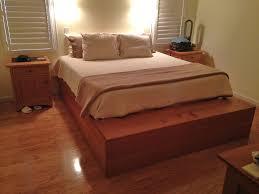 High Platform Bed Advantage Oak Platform Bed Bedroom Ideas And Inspirations