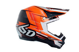 orange motocross helmet 6d helments king cobra of florida