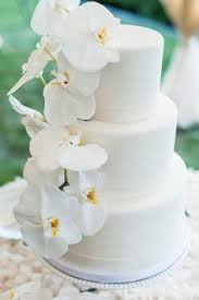 wedding cake og simple stylish white cake with orchids form and gus wedding