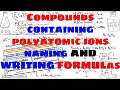 compounds containing polyatomic ions naming and writing chemical