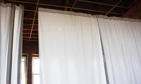 How To Divide A Room With Curtains by How To Hang 30 U0027 Of Curtains For 40 Apartment Therapy