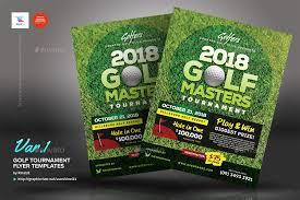 golf tournament flyer template golf tournament poster free vector