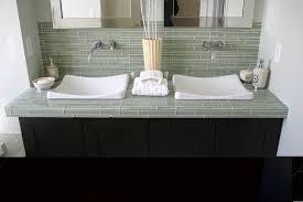 Cheap Bathroom Countertop Ideas Ideas Recycled Glass Tile Countertop Modern Countertops