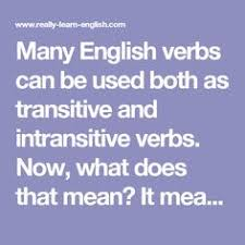 transitive and intransitive verbs transitive and intransitive