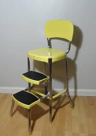 Yellow Retro Kitchen Chairs - retro kitchen chair step stool cabinet hardware room bold
