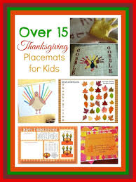 thanksgiving placemats to color free easy make crafts for preschool