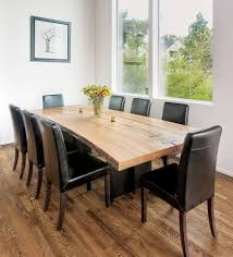 slab art studio fine live edge and modern furniture madrona steel dining table