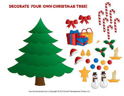 christmas tree ornament craft template template business