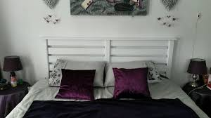 Wooden Headboards For Double Beds by White Pallet Bed Headboard Bed Headboards White Double Bed And