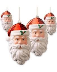amazing deal on national tree company 10 inch santa ornaments set
