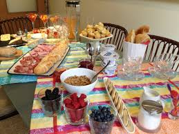 brunch table thelicious food