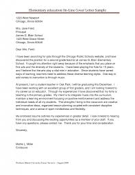 cover letter elementary teaching cover letters template elementary