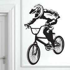 Cycling Home Decor Cool Bmx Bike Bicycle Boys Decal Vinyl Home Decor Sticker