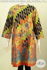 desain baju batik halus baju batik halus desain kekinian tanpa krah dan resleting depan