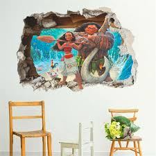 Aliexpresscom  Buy Cartoon Movie Moana Maui Vaiana Wall Sticker - Kids rooms decals