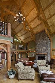 timber frame great room lighting an excellent interior in a woodhouse the timber frame company home