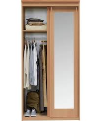 buy new hallingford 2 door sliding mirror wardrobe beech effect