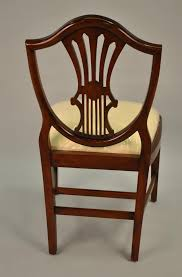 Vintage Dining Room Chairs Small Vintage Size Shield Back Dining Room Chairs Solid Mahogany