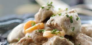 cuisiner la blanquette de veau blanquette de veau flamande facile recette sur cuisine actuelle