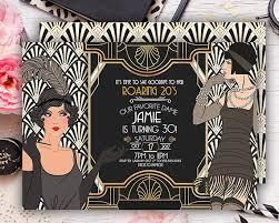 roaring 20s invitation great gatsby invitatio 30th birthday