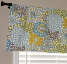 K Mart Kitchen Curtains by Kitchen Curtain Yellow Valance Etsy Within Yellow And Grey