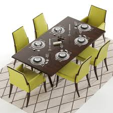 baker vienna table and abrazo chairs 3d model max obj fbx mtl
