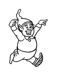 happy christmas elf coloring free printable coloring pages