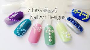 manicure monday 7 easy pearl nail art designs youtube