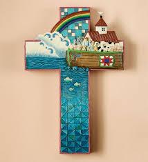 Cross Wall Decor by Heartwood Creek Wall Crosses Collection Noahs Ark Cross Wall Decor