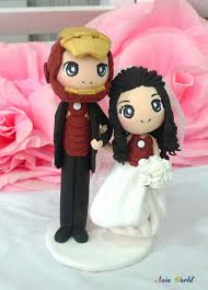 asian hand ring holder images Iron man wedding cake topper clay doll engagement clay etsy jpg