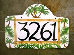 unique house number plaques for beach house design ideas