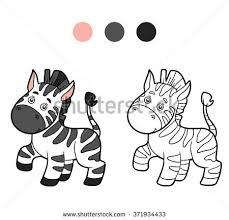 cartoon illustration outline vector zebra stock images royalty