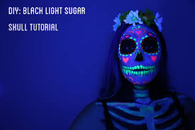 how to use black light paint black light sugar skull tutorial tiffyquake