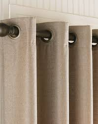 Grommet Top Valances Grommet Curtains Monterey Textured Barkcloth Lined Grommet Drape