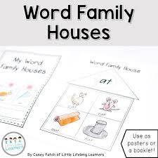 printable word family house booklet posters qld font the