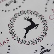 christmas reindeer sticker sheet advent xmas craft x 35 vintage