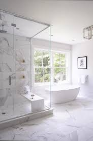 Bathrooms With Freestanding Tubs An Oval Freestanding Bathtub Paired With A Modern Polished Nickel