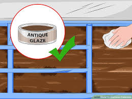 how to distress cabinets with pictures wikihow