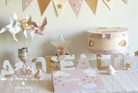 guirlande fanion mariage fanions pastel ivoire or étoile la maison des délices