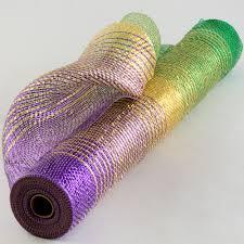 mardi gras deco mesh 21 poly deco mesh metallic mardi gras ombré xb991 17