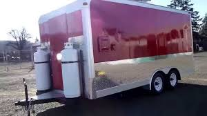 Kitchen Trailer For Sale by Red Catering Food Trailer Mobile Kitchen Double Axle Youtube