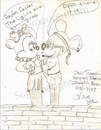 jack trawick mickey minnie mouse drawing signed u2013 supernaught