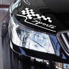Checkered Flag Hyundai Service 10 X Chequered Flag Sports Classical Car Sticker Auto Decal