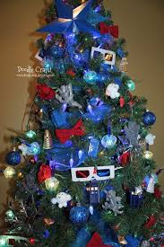 Christmas Tree With Blue Decorations - doodlecraft doctor who inspired christmas tree