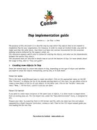 itop implementation guide service level agreement comma