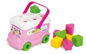 clementoni 14933 baby minnie shape sorter bus minnie mouse