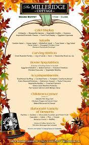 thanksgiving buffet at the cottage the milleridge inn